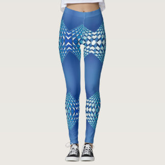Blue Clown Leggings