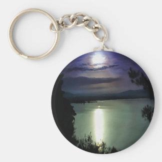 Blue Coastal Sunset Key Ring