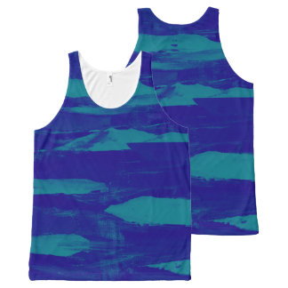 Blue Coasting All-Over Print Tank Top