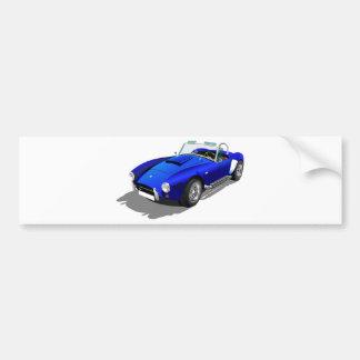Blue Cobra Car Bumper Sticker