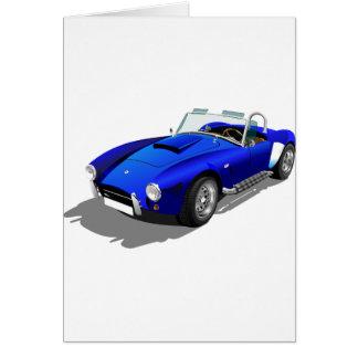 Blue Cobra Car Card