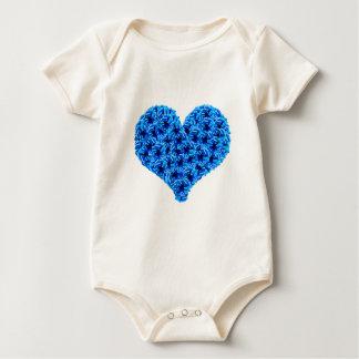 Blue Cockades Heart Infant Creeper