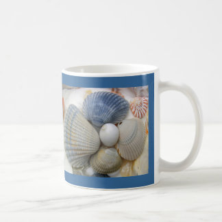 Blue Cockle Shells Coffee Mug