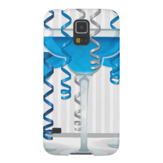 Blue cocktail and ribbon cases for galaxy s5