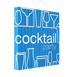 Blue cocktail party canvas print