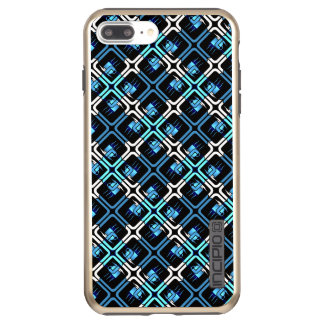 Blue Coffee Cups Cafe Mugs Drinks Java Brew Design Incipio DualPro Shine iPhone 8 Plus/7 Plus Case