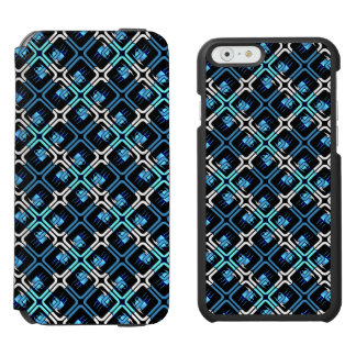 Blue Coffee Cups Cafe Mugs Drinks Java Brew Design Incipio Watson™ iPhone 6 Wallet Case