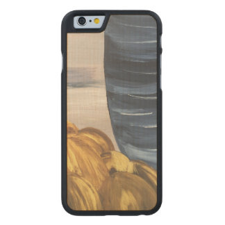 Blue Coffee Mug & Beans Carved Maple iPhone 6 Case