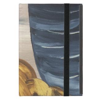 Blue Coffee Mug & Beans Cover For iPad Mini
