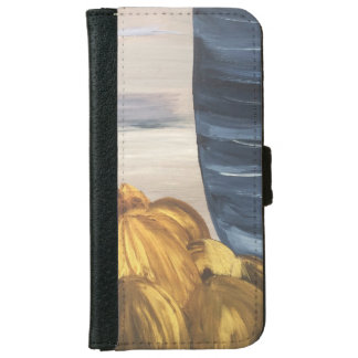 Blue Coffee Mug & Beans iPhone 6 Wallet Case