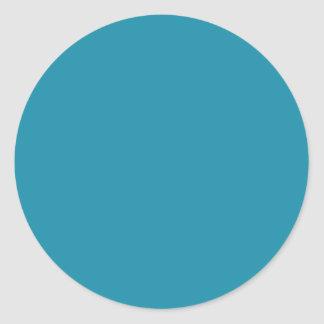 Blue Color 1 Round Sticker