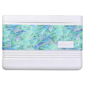 Blue color abstract floral stylish pattern cooler