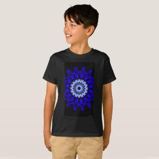 Blue Color Circle Design T-Shirt