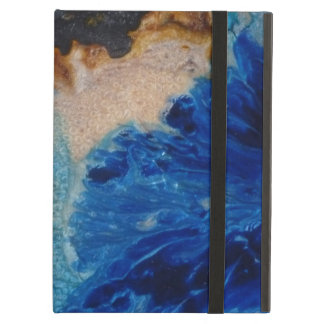 Blue Color Spill Case For iPad Air