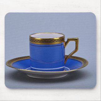 Blue colored 20th century coffee cup and saucer mouse pads