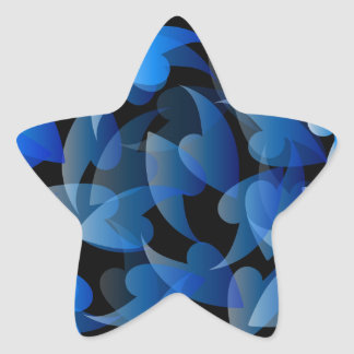 Blue colored background with leaves star sticker