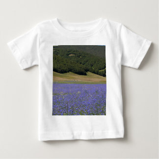 Blue colored fields with cornflowers baby T-Shirt