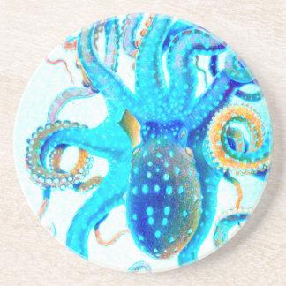 Blue colorful ocopi coasters
