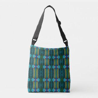 Blue Colorful Rainbow Stripe Pattern Tote Bag