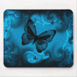 blue colourful butterfly vector art mouse pad