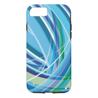 Blue Colourful Lines Background iPhone 7 Case