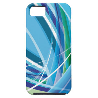 Blue Colourful Lines Background Tough iPhone 5 Case