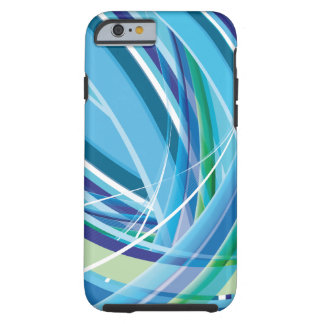 Blue Colourful Lines Background Tough iPhone 6 Case