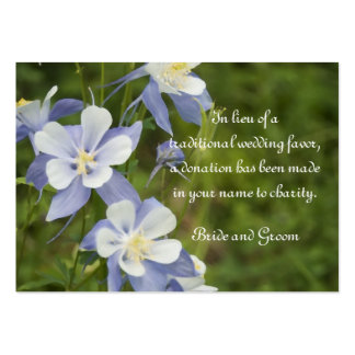 Blue Columbine Flowers Wedding Charity Favor Card Pack Of Chubby Business Cards