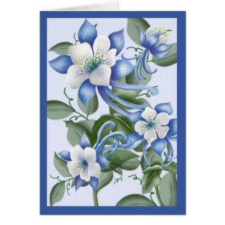 Blue Columbines Card