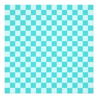 Blue Combination Classic Checkerboard Art Photo