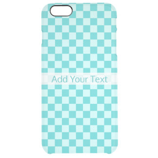 Blue Combination Classic Checkerboard by STaylor Clear iPhone 6 Plus Case