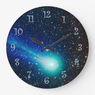Blue Comet Large Clock