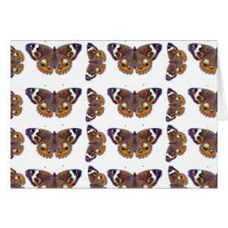 Blue Common Buckeye Butterfly Painting Repeating Card