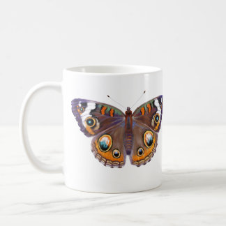 Blue Common Buckeye Butterfly Realistic Painting Coffee Mug