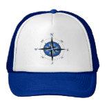 Blue Compass Rose Cap