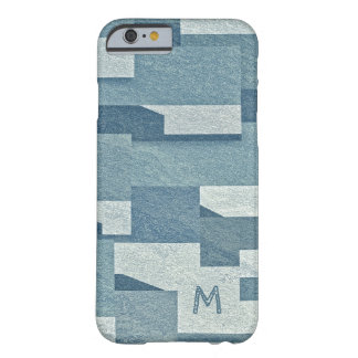 """Blue Concrete"" custom monogram phone cases"
