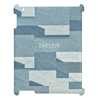 """Blue Concrete"" custom name device cases iPad Covers"