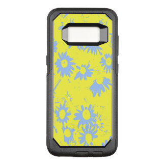 Blue Cone Flowers with Yellow Background OtterBox Commuter Samsung Galaxy S8 Case
