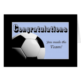 Blue Congratulations you made the team Card