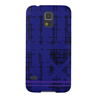 'Blue Construction' Patterned Galaxy S5 Covers