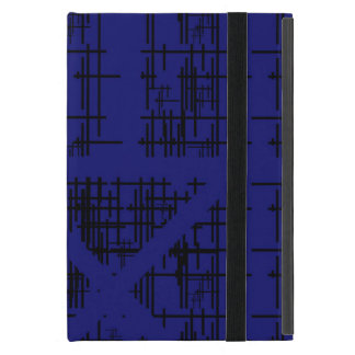 'Blue Construction' Patterned iPad Mini Case