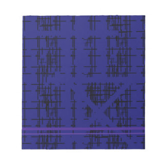'Blue Construction' Patterned Notepad