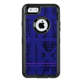 'Blue Construction' Patterned OtterBox Defender iPhone Case