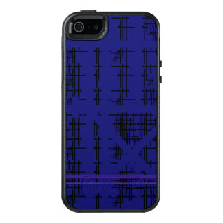 'Blue Construction' Patterned OtterBox iPhone 5/5s/SE Case