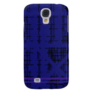 'Blue Construction' Patterned Samsung Galaxy S4 Case