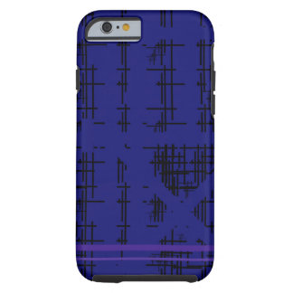 'Blue Construction' Patterned Tough iPhone 6 Case
