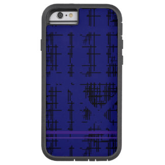 'Blue Construction' Patterned Tough Xtreme iPhone 6 Case