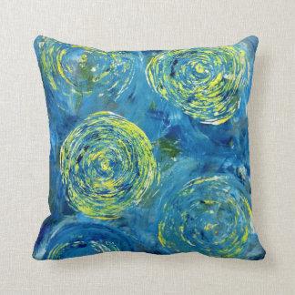 Blue Contemporary Pillow