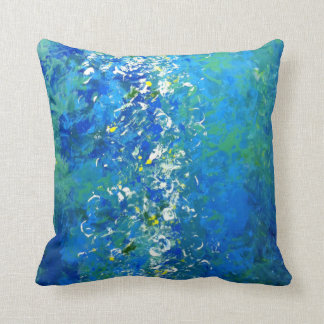 Blue Contemporary Underwater Pillow