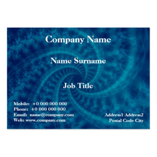 Blue Contrail Spiral Card Pack Of Chubby Business Cards